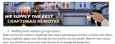 Tips - Garage Door Repair North Highlands